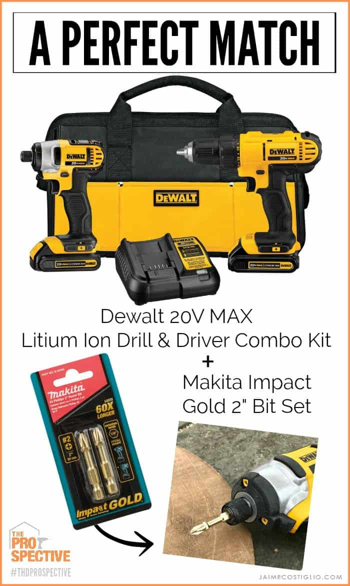 dewalt drill and driver plus makita gold bit