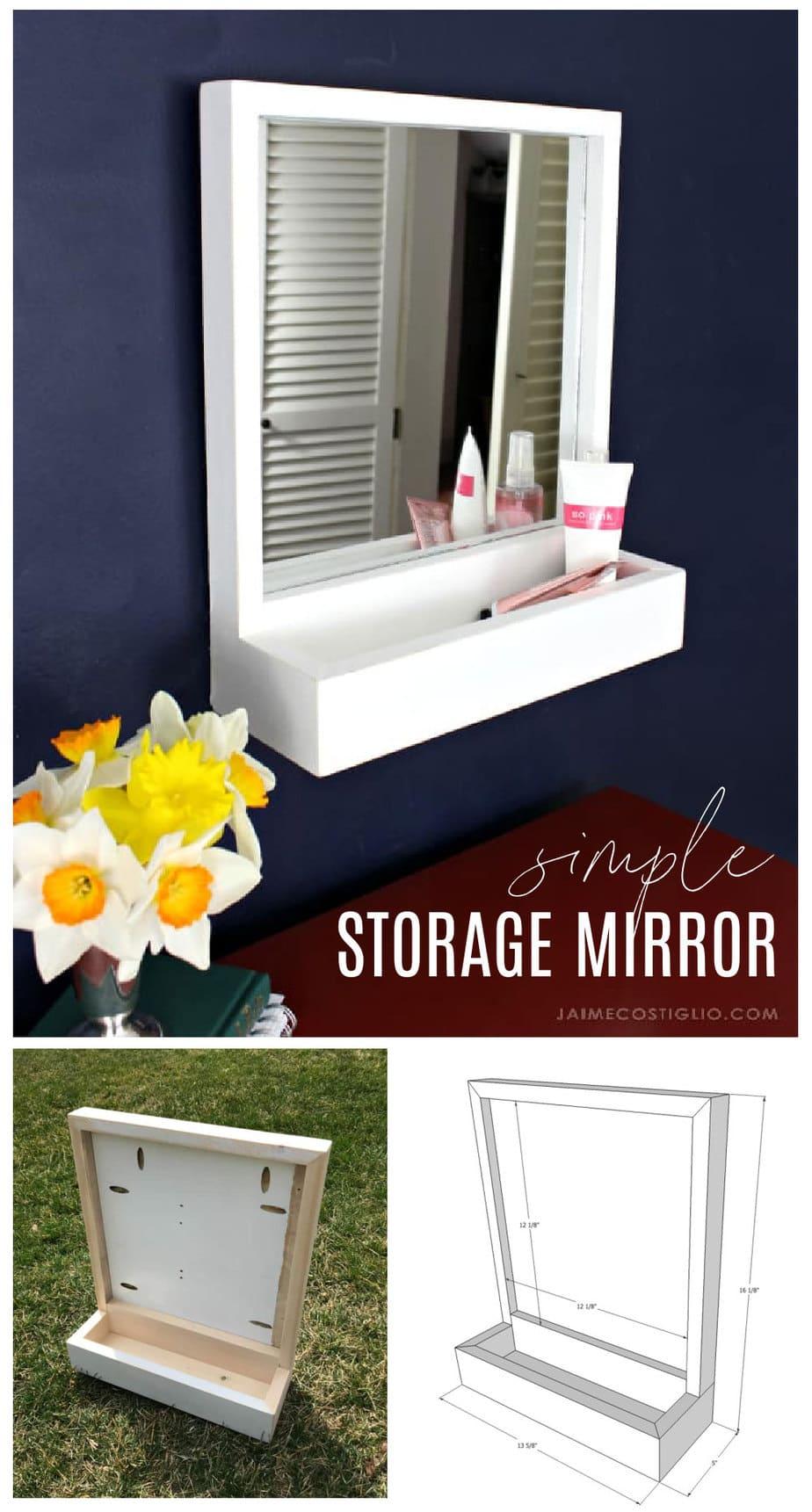 diy simple storage mirror plans