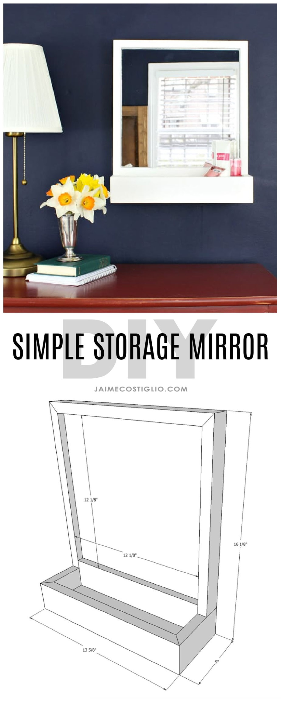 diy simple storage mirror