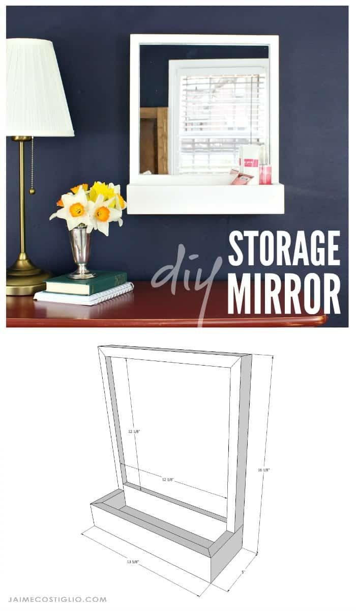 diy storage mirror free plans