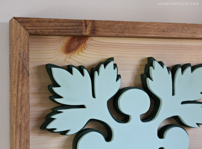 scroll saw wood art detail