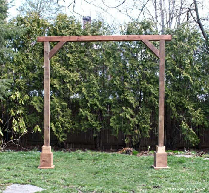 self standing wood arch