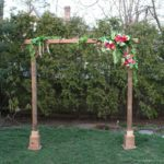 DIY Self Standing Wood Arch