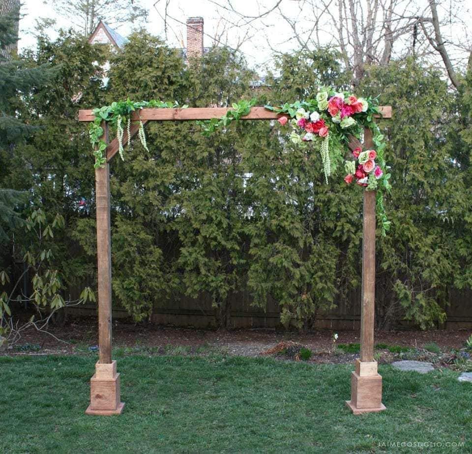 Diy Wedding Wood Arch: DIY Self Standing Wood Arch