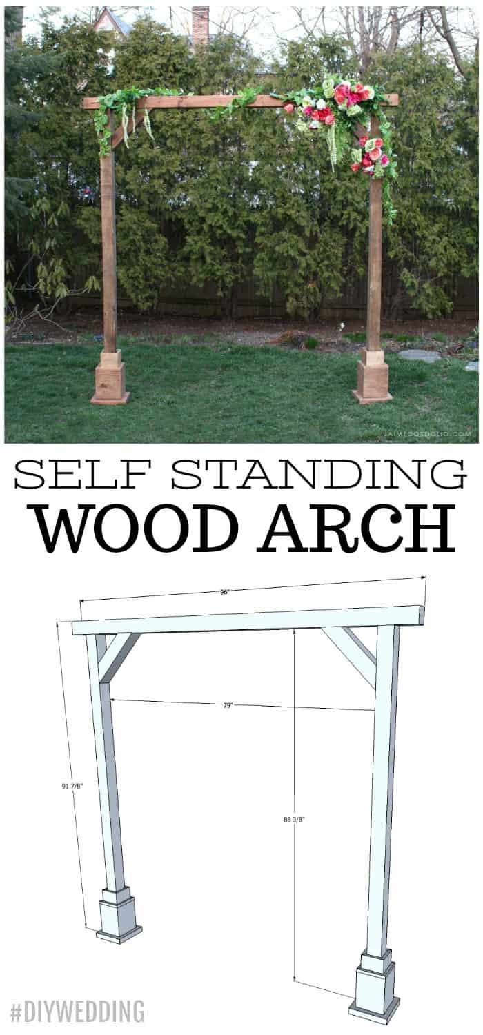 self standing wood arch plans