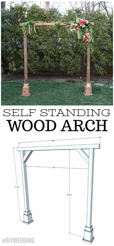 Diy Wedding Arch.Diy Self Standing Wood Arch Jaime Costiglio