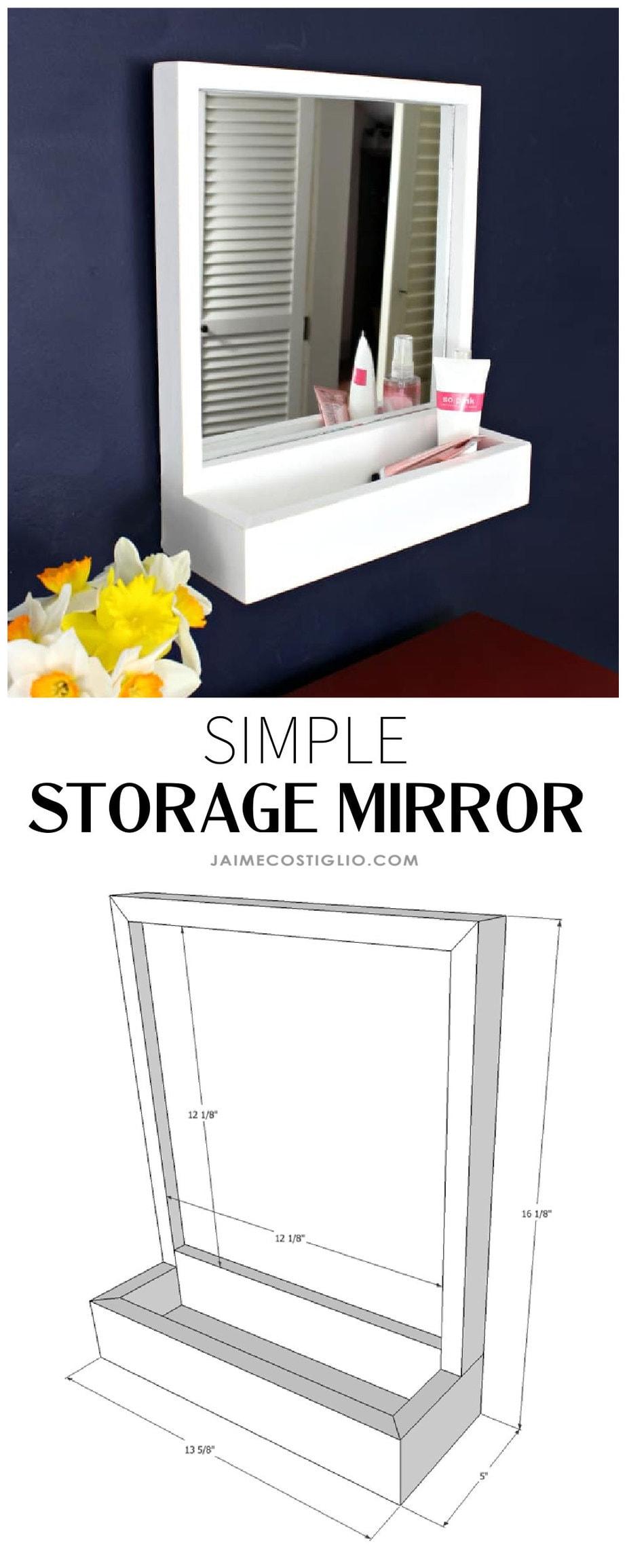 simple storage mirror plans