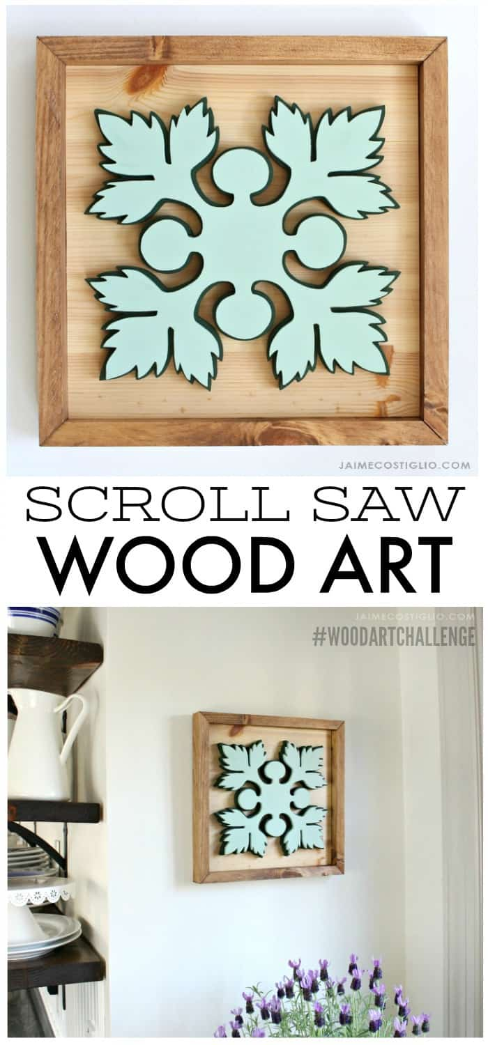 square wood art challenge collage