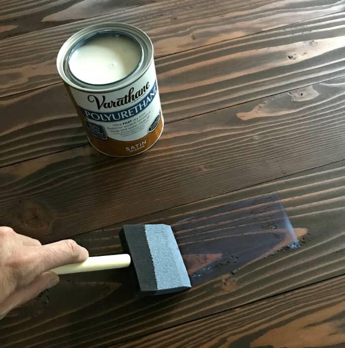 varathane polyurethane satin applying to stained wood