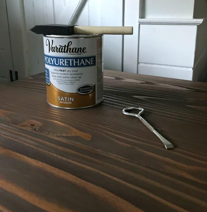 varathane polyurethane satin for wood stained desk top