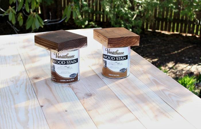 varathane stain options wood desk before