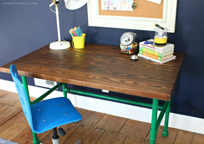 varathane stained desk top