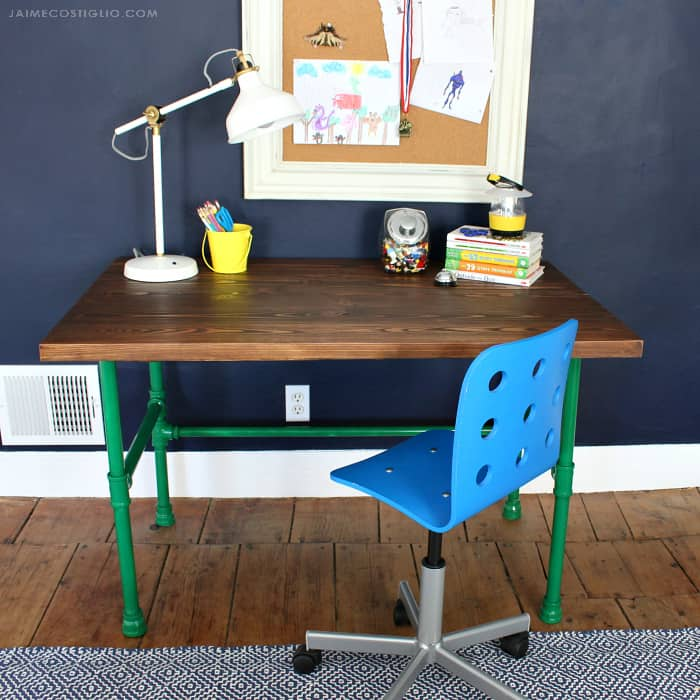 varathane stained wood desk top