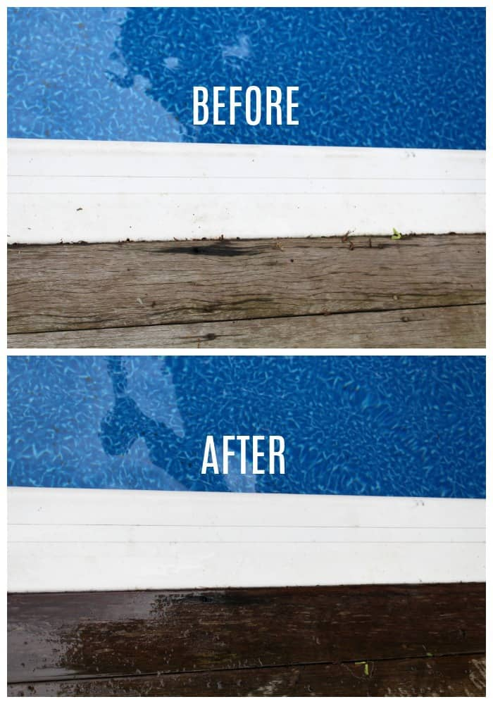 Dremel versa pool coping before after