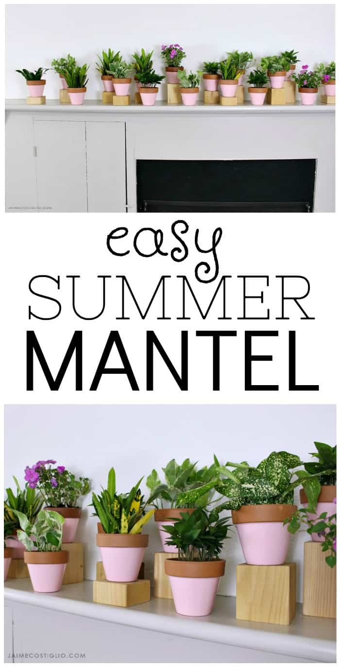 easy summer mantel
