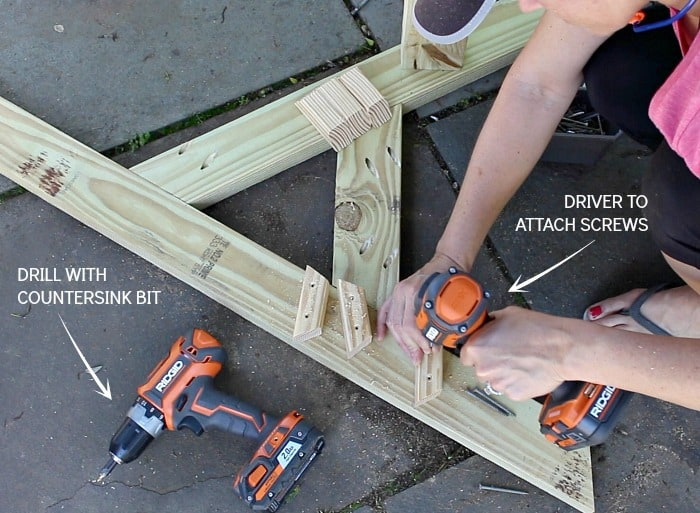 ridgid drill and driver in action