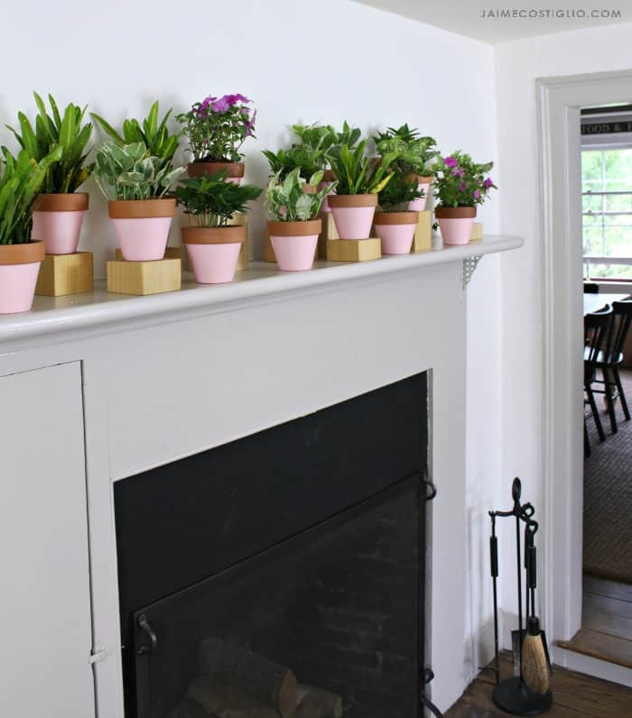 summer mantel using plants