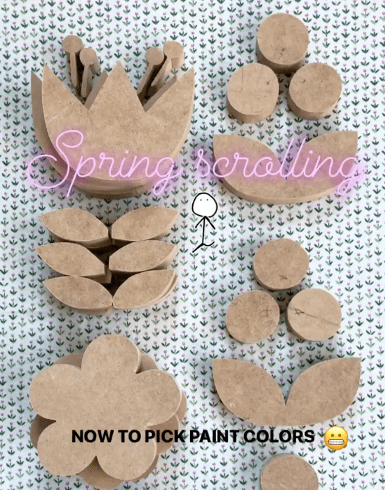 floral shapes cut on scroll saw