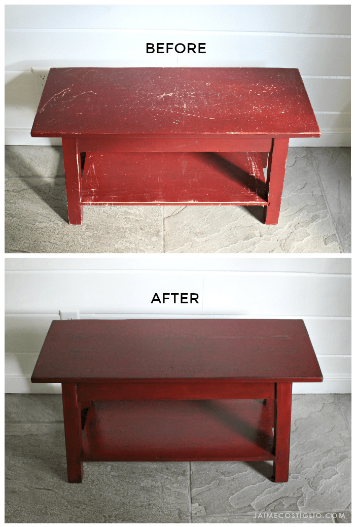 bench refinish before after