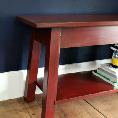Refinished Bench using Stain