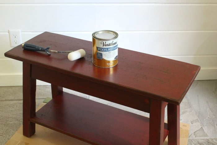bench refinish with poly seal