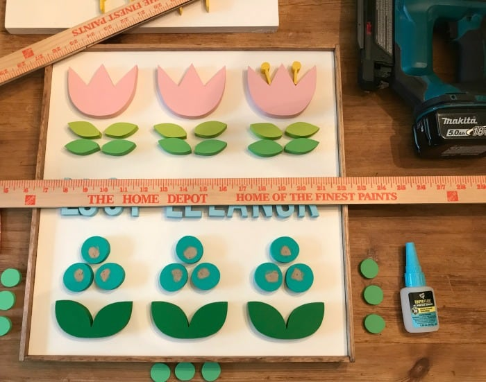name plaque gluing pieces