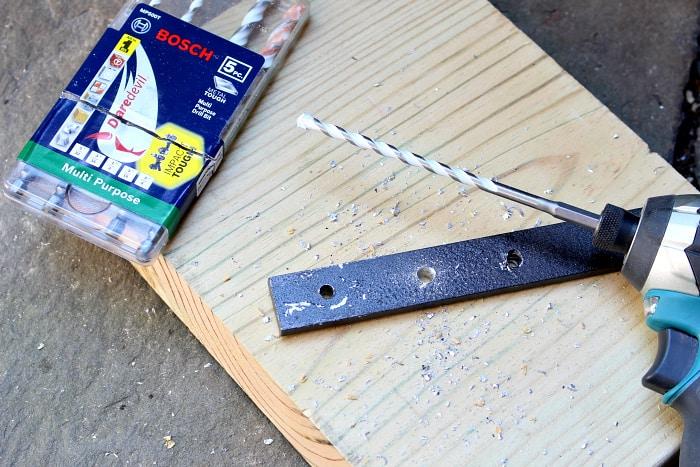 Bosch carbide drill bit into metal
