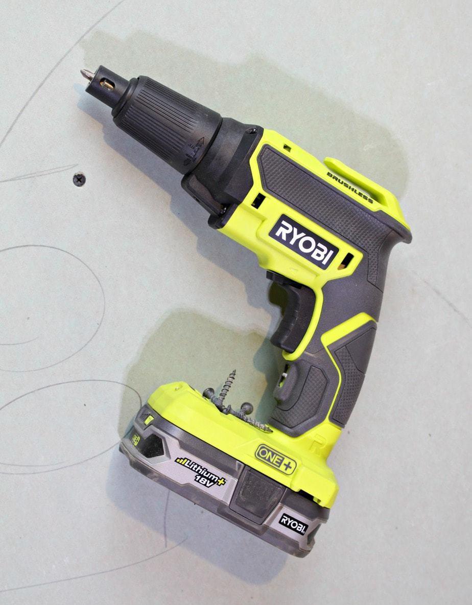 Ryobi drywall screw gun tool