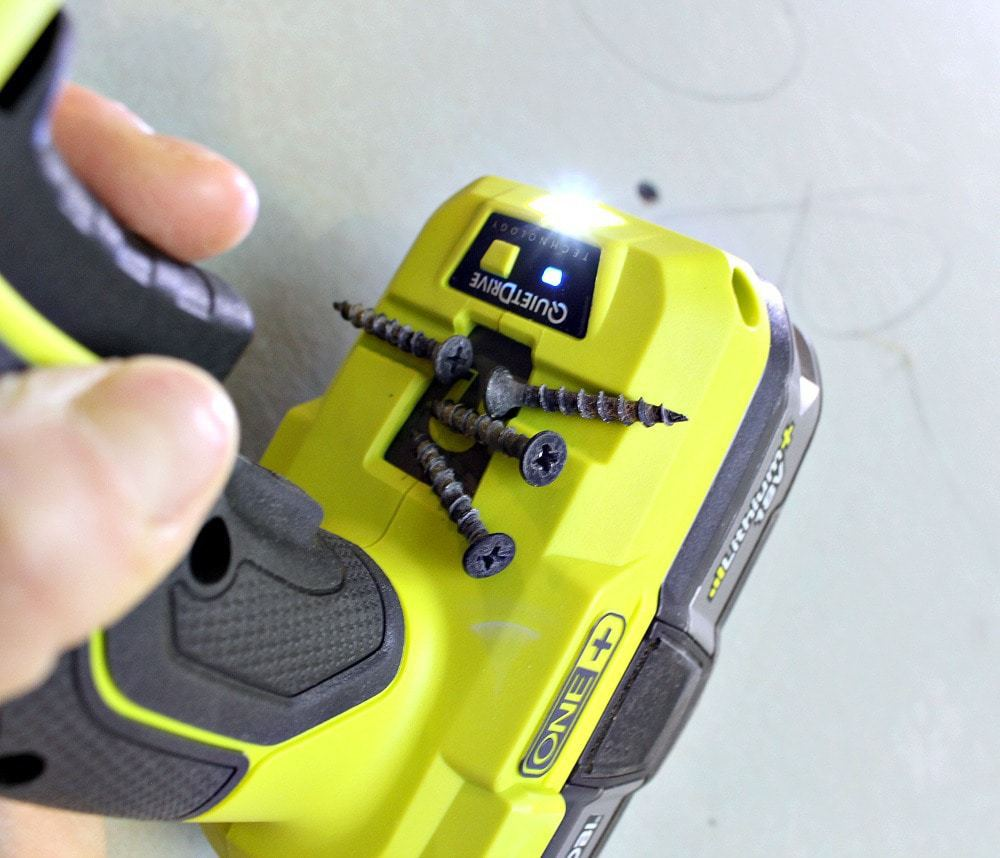 Ryobi drywall screw gun magnetic tray