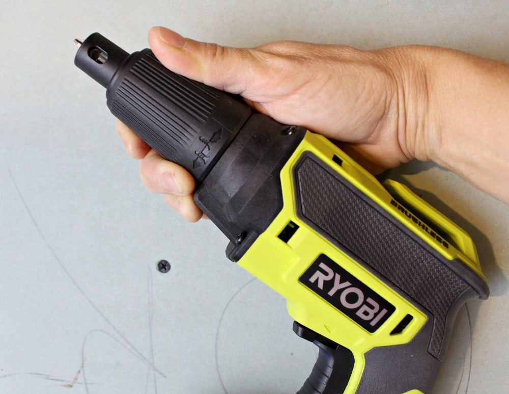 Ryobi drywall screw gun depth adjustment