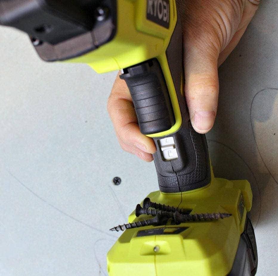Ryobi drywall gun drive clutch lock