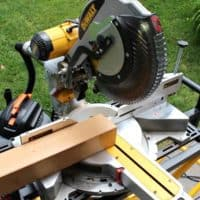dewalt miter saw 5 degree miter through 4x4
