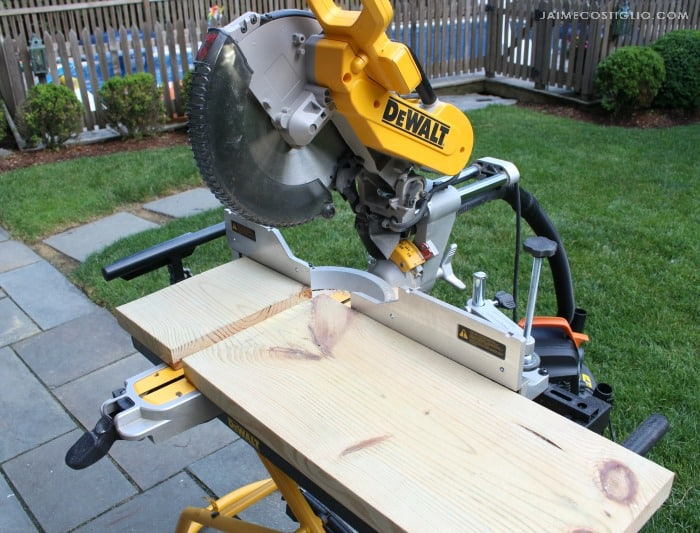 dewalt miter saw set up