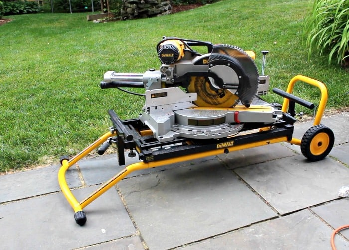 dewalt mobile miter saw and stand collapsed