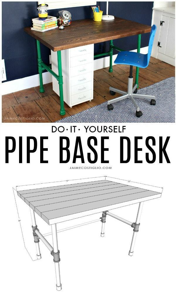 do it yourself pipe base desk