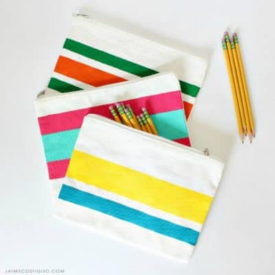 Painted Zipper Pouch with Stylin Paint
