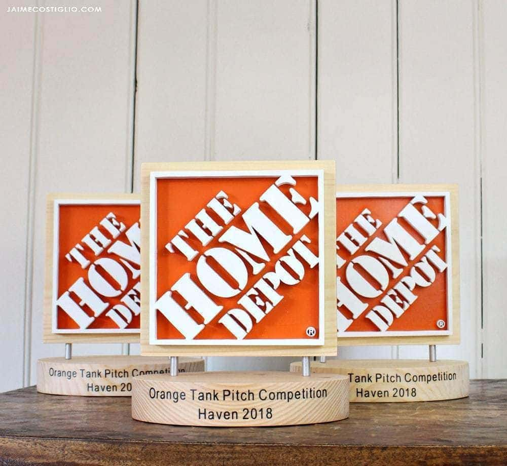 the home depot logo trophy