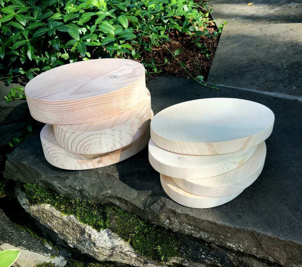 wood oval trophy bases
