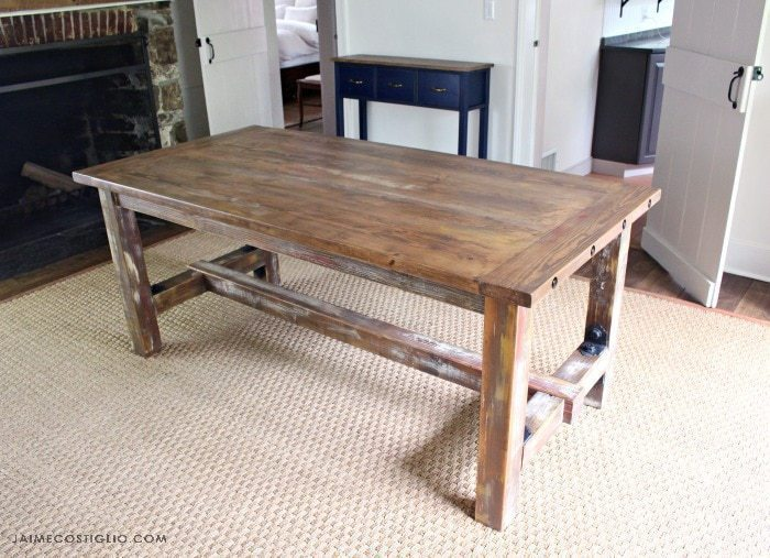 breadboard end farmhouse table