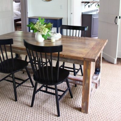 DIY Faux Barnwood Dining Table