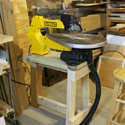 My Scroll Saw Set up & Stand Free Plans