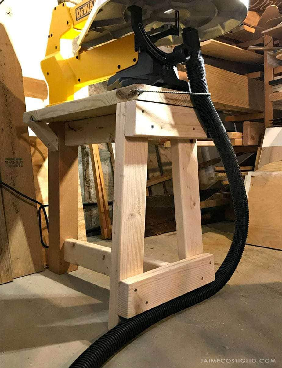 scroll saw stand details