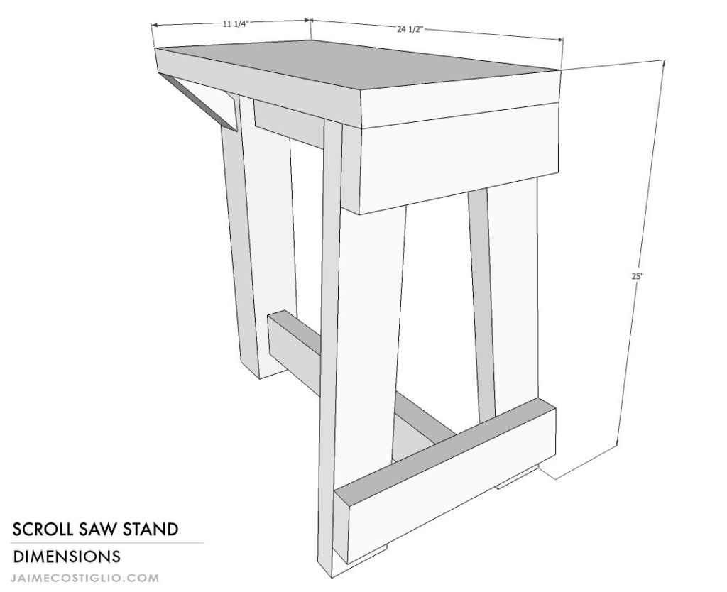 scroll saw stand dimensions