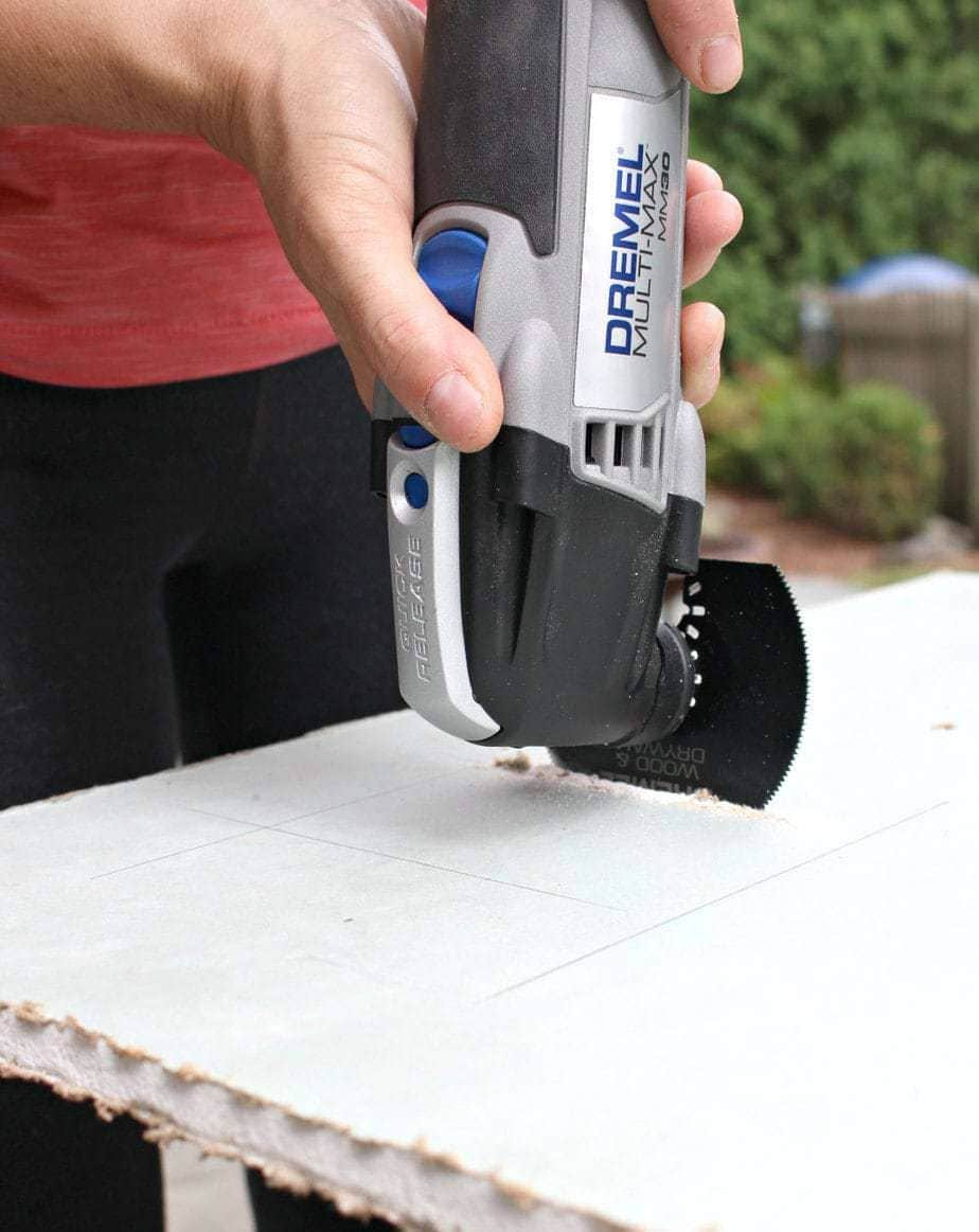 dremel accessory set cutting drywall