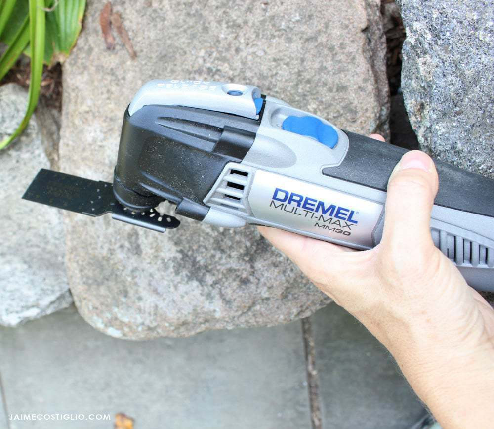 dremel multi max with wood blade