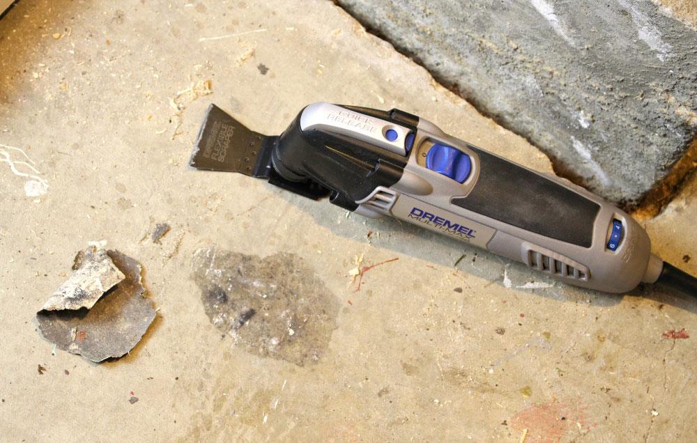 dremel multi max with scraper blade