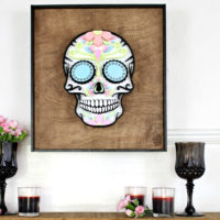 pasteloween sugar skull with frame