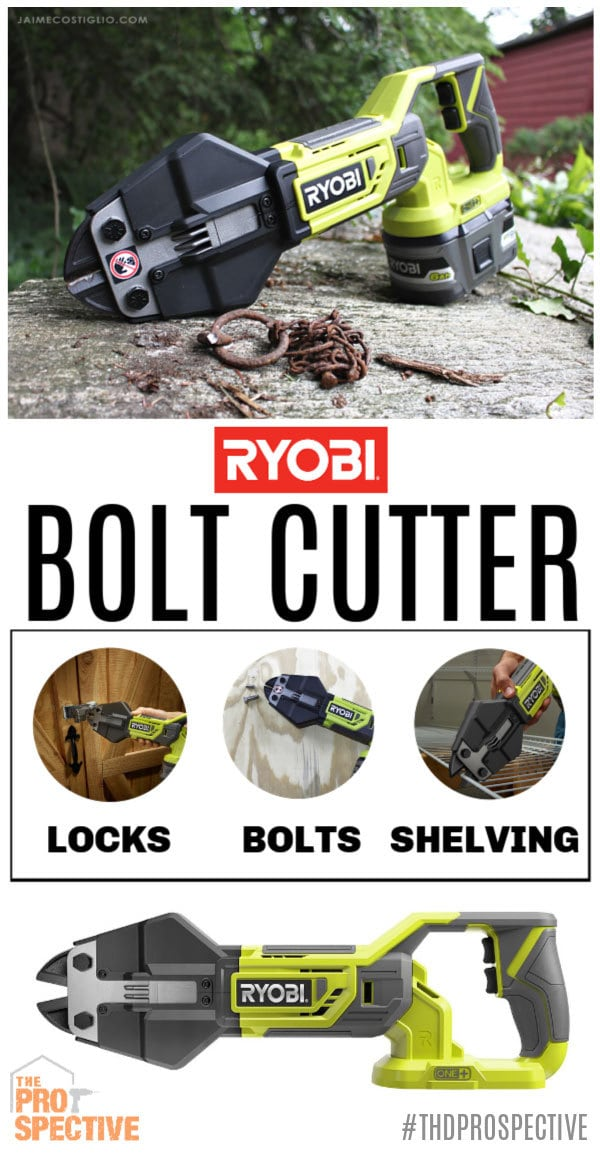 ryobi bolt cutter collage