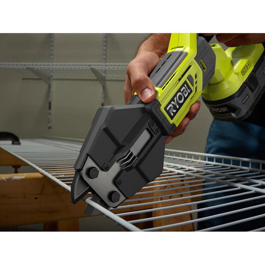 ryobi bolt cutter cutting closet shelving