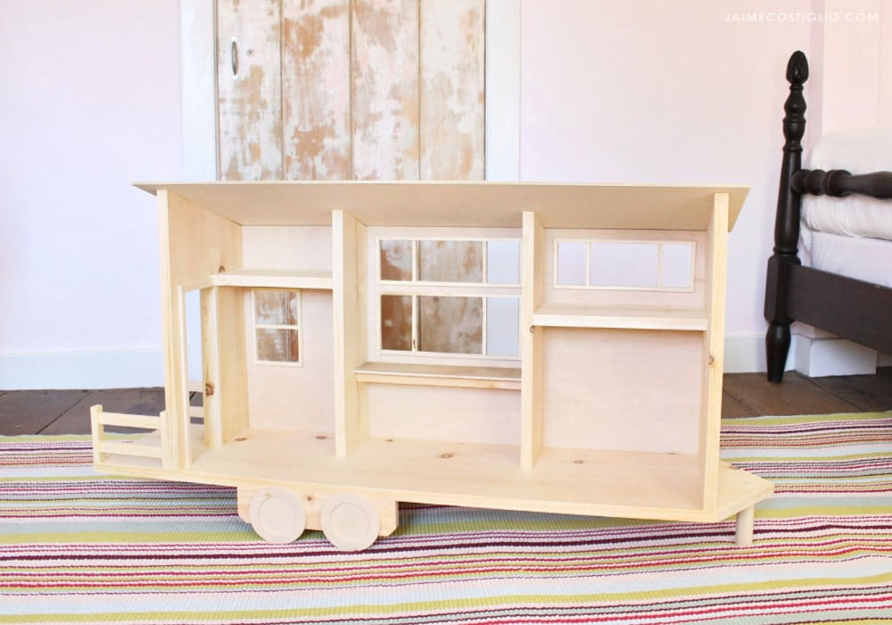 barbie size tiny house dollhouse empty